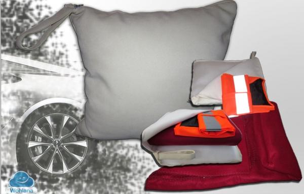 qualit tsmatratzen ab werk auto fan kissen mit praktischer notfallausstattung. Black Bedroom Furniture Sets. Home Design Ideas
